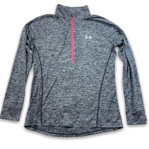 Under Armour 1/2 Zip Pull Over Top Size L Gray